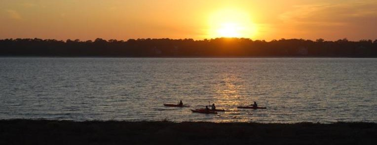 Sunset with Kayakers - Hilton Head Island SC